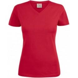 HEAVY V-NECK LADY-czerwony